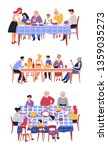 festive meal family dinner... | Shutterstock .eps vector #1359035273