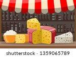 cheese street market store... | Shutterstock .eps vector #1359065789