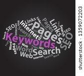 text cloud. seo wordcloud.... | Shutterstock . vector #1359072203