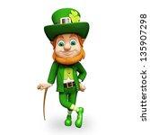 leprechaun for st patricks day   Shutterstock . vector #135907298