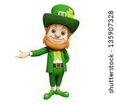 leprechaun for st patricks day   Shutterstock . vector #135907328
