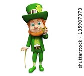 leprechaun for st patricks day | Shutterstock . vector #135907373