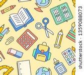 school supplies seamless...   Shutterstock .eps vector #1359088073