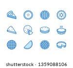 pie flat line icons set....   Shutterstock .eps vector #1359088106