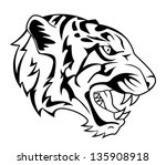 tiger roar | Shutterstock .eps vector #135908918