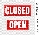 open and closed sign... | Shutterstock .eps vector #1359089699