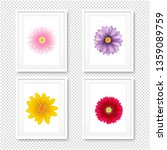 picture frame with flowers... | Shutterstock . vector #1359089759