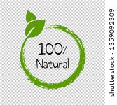 natural product text isolated... | Shutterstock .eps vector #1359092309