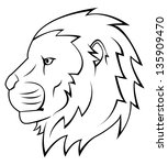 lion   Shutterstock .eps vector #135909470