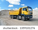 Truck Transports Sand In A...