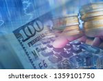 multiple exposure of business... | Shutterstock . vector #1359101750