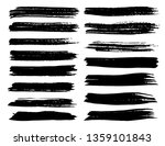 set of brush strokes  black ink ... | Shutterstock .eps vector #1359101843