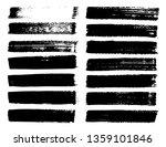 set of brush strokes  black ink ... | Shutterstock .eps vector #1359101846