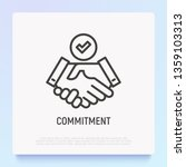 Commitment Thin Line Icon ...