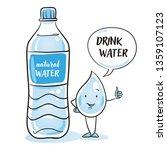 cute cartoon water drop...   Shutterstock .eps vector #1359107123