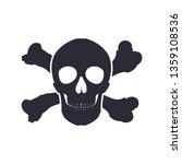 skull with bones sign. vector... | Shutterstock .eps vector #1359108536