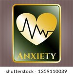 gold emblem or badge with... | Shutterstock .eps vector #1359110039