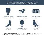 6 freedom icons. trendy freedom ... | Shutterstock .eps vector #1359117113