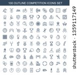 100 competition icons. trendy... | Shutterstock .eps vector #1359117149