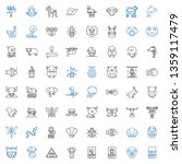 wildlife icons set. collection... | Shutterstock .eps vector #1359117479