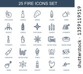fire icons. trendy 25 fire... | Shutterstock .eps vector #1359119519