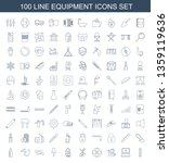 equipment icons. trendy 100... | Shutterstock .eps vector #1359119636