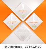 modern infographic template for ... | Shutterstock .eps vector #135912410