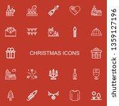 editable 22 christmas icons for ... | Shutterstock .eps vector #1359127196