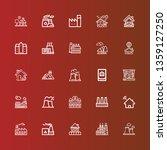 editable 25 chimney icons for... | Shutterstock .eps vector #1359127250