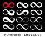 set of infinity symbols hand...   Shutterstock .eps vector #1359132719