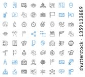 location icons set. collection...   Shutterstock .eps vector #1359133889