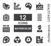 watercolor icon set. collection ...   Shutterstock .eps vector #1359137939