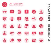 attention icon set. collection... | Shutterstock .eps vector #1359139733