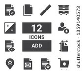 add icon set. collection of 12...   Shutterstock .eps vector #1359140573