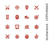 competitive icon set.... | Shutterstock .eps vector #1359140663