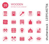 wooden icon set. collection of... | Shutterstock .eps vector #1359140756
