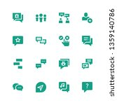 forum icon set. collection of... | Shutterstock .eps vector #1359140786
