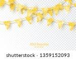glitter gold party flags... | Shutterstock .eps vector #1359152093