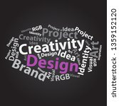 text cloud. design wordcloud.... | Shutterstock . vector #1359152120