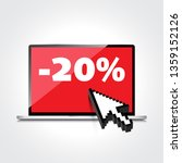 sale  markdown  discount 20... | Shutterstock . vector #1359152126