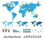 world map and graph bar... | Shutterstock . vector #1359152129