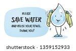 cute cartoon water drop... | Shutterstock .eps vector #1359152933
