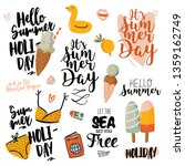 summer print with cute holiday...   Shutterstock .eps vector #1359162749
