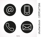 communication icons in the...   Shutterstock .eps vector #1359167186