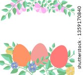 decorative easter eggs and... | Shutterstock .eps vector #1359170840