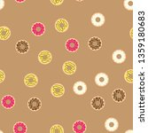 donuts with colored glaze on... | Shutterstock . vector #1359180683