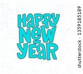 happy new year vector lettering ...   Shutterstock .eps vector #1359185189