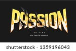 passion graphic slogan with... | Shutterstock .eps vector #1359196043