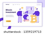 vector bitcoin investment... | Shutterstock .eps vector #1359219713