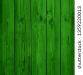 Background Green Wooden Planks...